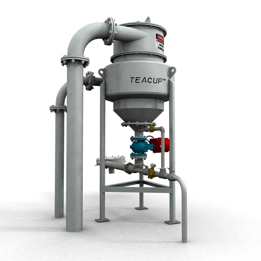 The TeaCup® is a high-performance grit removal, separation, classification and washing system