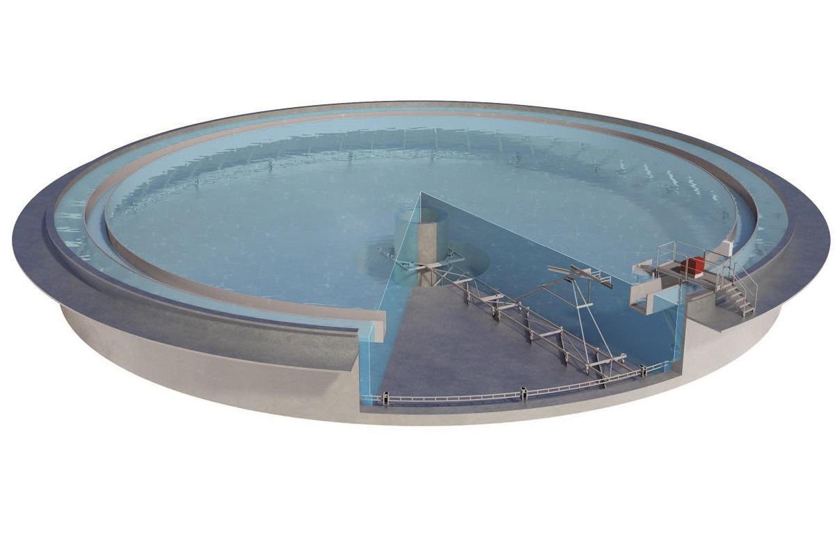 Zickert Rotating Sludge Scraper for circular wastewater settling tanks