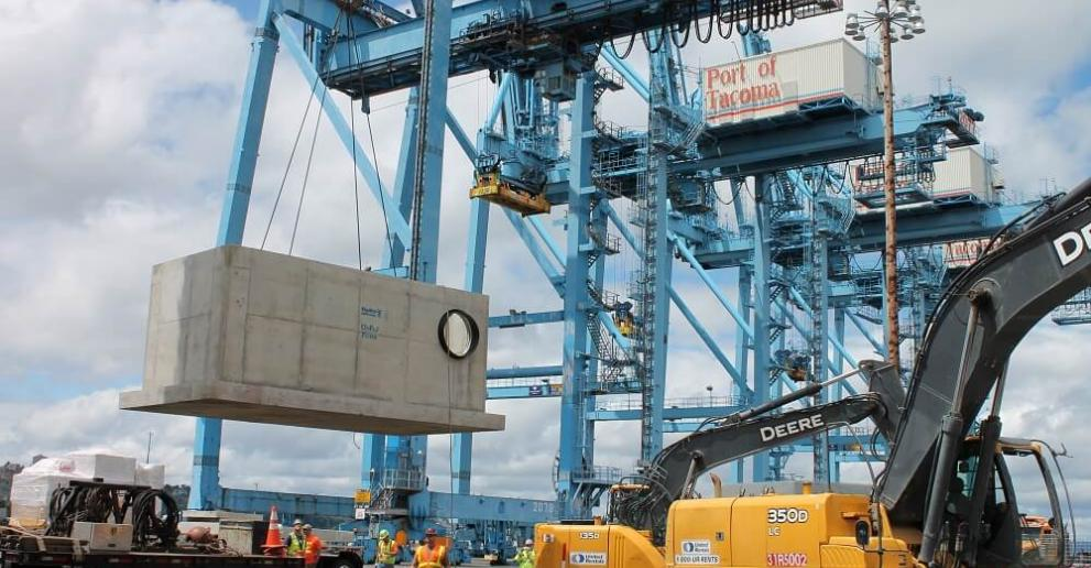 The Up-Flo Filter provides high-performance surface water treatment at the Port of Tacoma